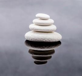 Zen white rock